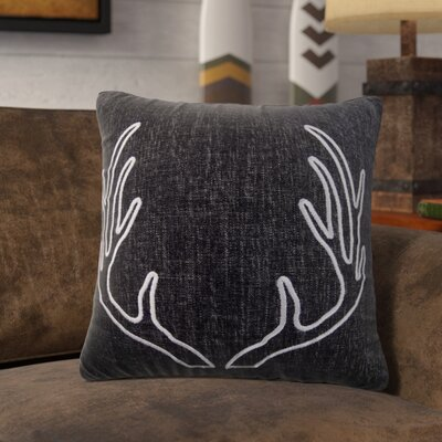 Redwood City Chenille Deco Throw Pillow with Embroidery Antlers