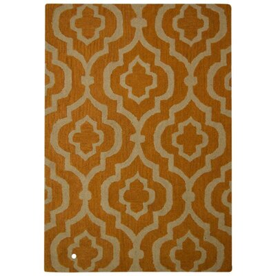 Lucero Hand-Woven Wool Gold/White Area Rug Rug Size: Rectangle�10 x 13