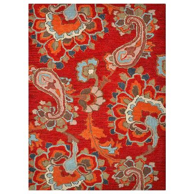 Sigel Hand-Woven Dark Red Area Rug Rug Size: Rectangle�9 x 12