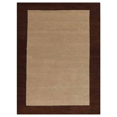 Angleterre Hand-Woven Wool Beige/Brown Area Rug Rug Size: Rectangle�4 x 6