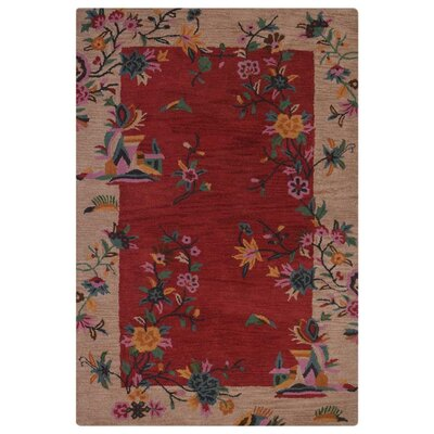 Brandie Hand-Woven Wool Red/Camel Area Rug Rug Size: Rectangle�10 x 13