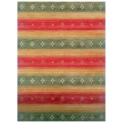 Manns Hand-Woven Wool Green/Gold Area Rug