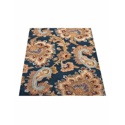 Reser Hand-Woven Blue Area Rug Rug Size: Rectangle�10 x 13