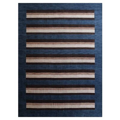 Chiasson Hand-Woven Wool Light Blue Area Rug
