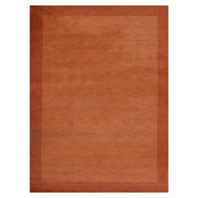 Manns Hand-Woven Wool Orange Area Rug Rug Size: Rectangle�8 x 10