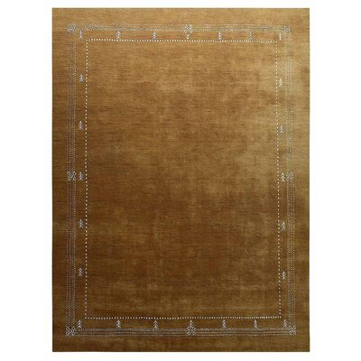 Manns Hand-Woven Wool Gold Area Rug Rug Size: Rectangle�9 x 12