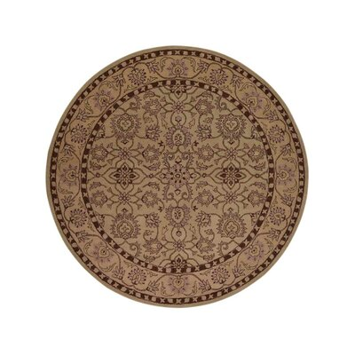 Selma Hand-Woven Cream Area Rug Rug Size: Round 10