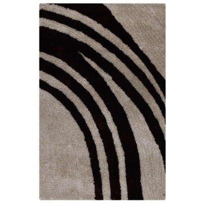 Jeremiah Handmade Shag Ivory/Brown Area Rug