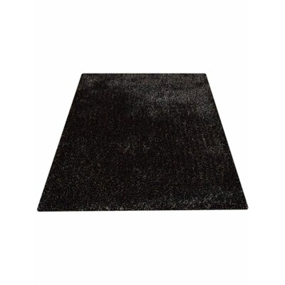Henricks Hand-Tufted Black Area Rug Rug Size: Rectangle 5 x 8