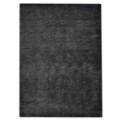 Delano Solid Hand-Woven Wool Gray Area Rug Rug Size: Rectangle 6 x 9