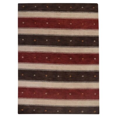 Manns Hand-Woven Wool Brown/Beige Area Rug