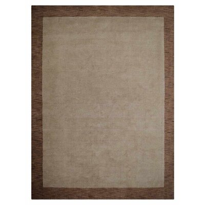 Manns Hand-Woven Wool Beige/Brown Area Rug