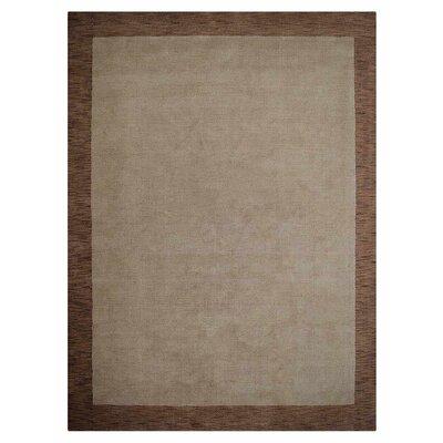 Manns Hand-Woven Wool Beige/Brown Area Rug