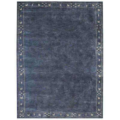 Manns Hand-Woven Wool Blue Area Rug Rug Size: Rectangle�8 x 10