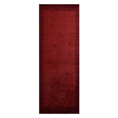 Olszewski Hand-Woven Wool Red Area Rug Rug Size: Runner�26 x 10
