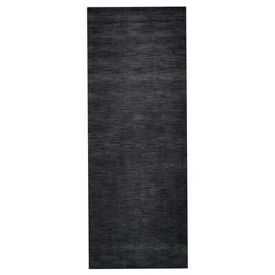 Delano Solid Hand-Woven Wool Gray Area Rug Rug Size: Runner 26 x 10
