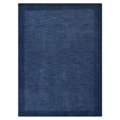 Jefferson Place Hand-Woven Wool Blue Area Rug