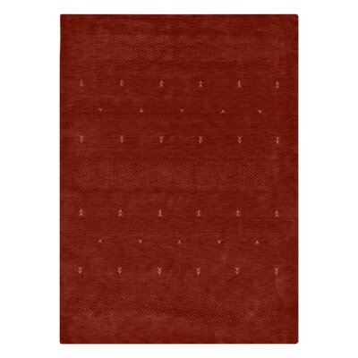 Manns Hand-Woven Wool Red Area Rug Rug Size: Rectangle�6 x 9
