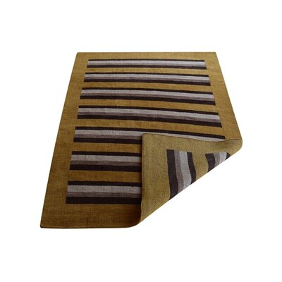 Ceniceros Striped Hand-Woven Wool Gold/Brown Area Rug Rug Size: Rectangle�9 x 12