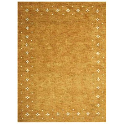 Manns Hand-Woven Wool Gold Area Rug Rug Size: Rectangle�6 x 9