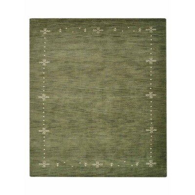 Manns Hand-Woven Wool Green Area Rug Rug Size: Square 10