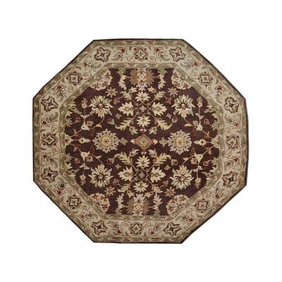 Selma Hand-Woven Brown/Cream Area Rug