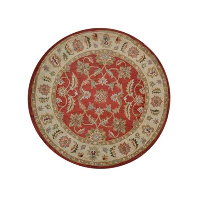 Morrisonville Hand-Woven Wool Red/Beige Area Rug Rug Size: Round 10
