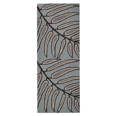 Lincolnshire Floral Hand-Woven Wool Light Blue Area Rug Rug Size: Runner 2'6