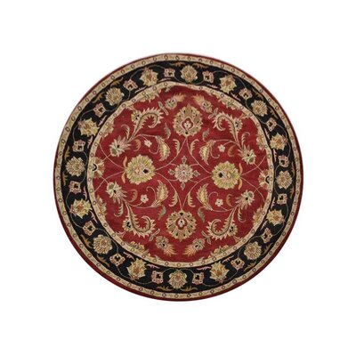 Morgenstern Vintage Hand-Woven Wool Red/Brown Area Rug Rug Size: Round 10