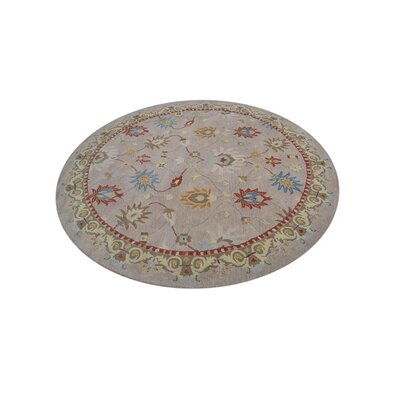 Selma Hand-Woven Beige Area Rug Rug Size: Round 10