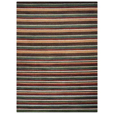 St Catherine Hand-Woven Wool Green/Yellow Area Rug