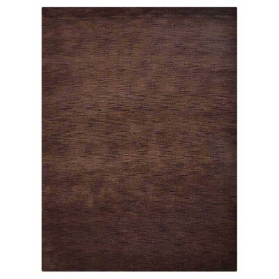 Ceniceros Solid Hand-Woven Rectangle Wool Brown Area Rug Rug Size: Rectangle 67 x 910