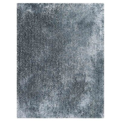 Jefferson Place Solid Hand-Woven Wool Light Blue Area Rug Rug Size: Rectangle 9 x 12