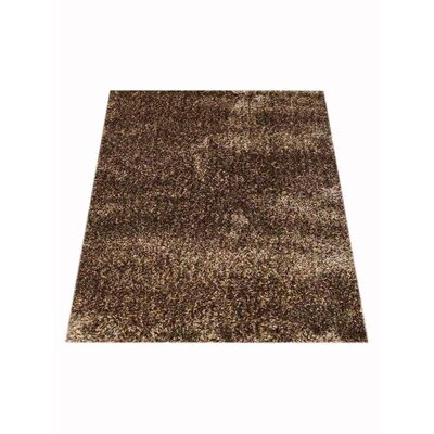 Stiner Hand-Woven Solid Beige/Brown Area Rug Rug Size: Rectangle�8 x 10