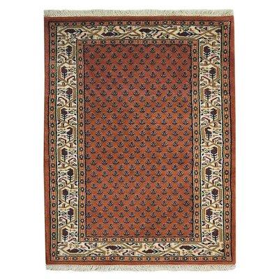 Olszewski Persian Hand-Woven Wool Rust Area Rug