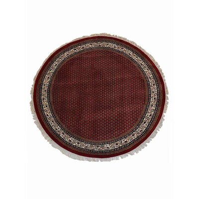 Maloy Persian Hand-Woven Wool Red Area Rug