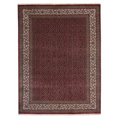 Dorman Persian Hand-Woven Wool Red Area Rug