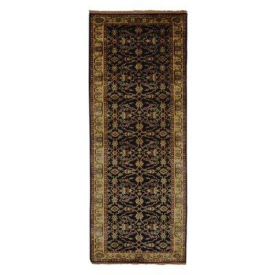 Olszewski Hand-Woven Wool Black Area Rug Rug Size: Runner�28 x 20