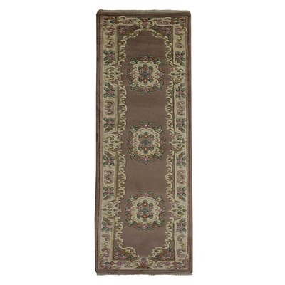 Selma Persian Hand-Woven Wool Brown Area Rug Rug Size: Runner�26 x 99