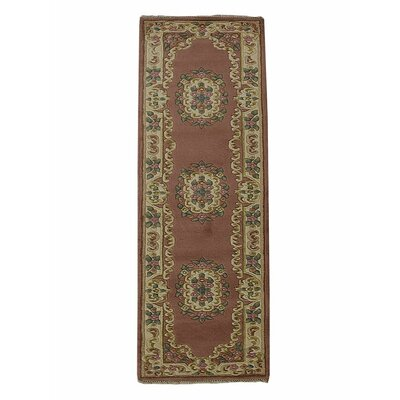 Selma Persian Hand-Woven Wool Rose Area Rug