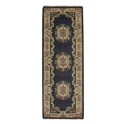 Selma Persian Hand-Woven Wool Light Blue Area Rug Rug Size: Runner�26 x 10