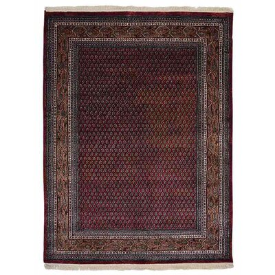 Olszewski Persian Hand-Woven Wool Red Area Rug