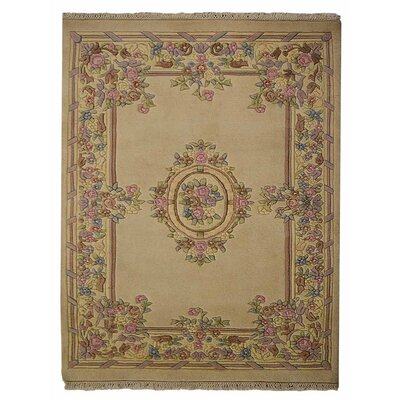 Selma Persian Hand-Woven Wool Ivory Area Rug