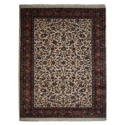 Dorman Persian Hand-Woven Wool Cream Area Rug