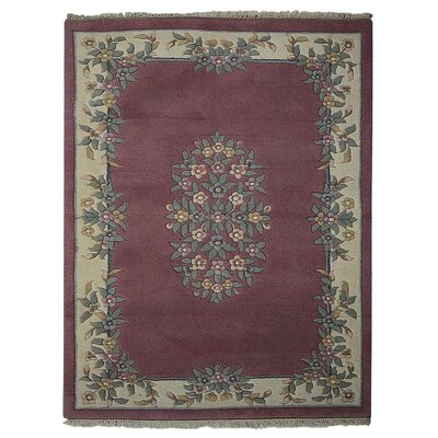 Selma Persian Hand-Woven Wool Pink Area Rug