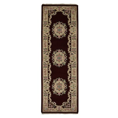 Selma Persian Hand-Woven Wool Red Area Rug Rug Size: Runner�26 x 10