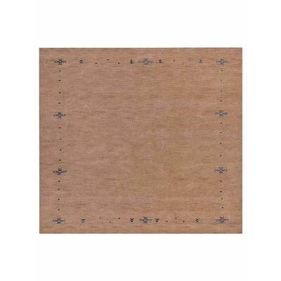 Cope Hand-Woven Wool Beige Area Rug Rug Size: Square 10