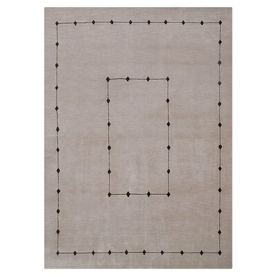 Manns Hand-Woven Wool Beige Area Rug