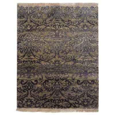 Olszewski Persian Hand-Woven Wool Gray Area Rug