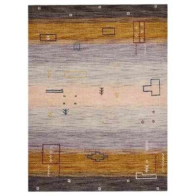 Manns Hand-Woven Wool Purple/Gold Area Rug Rug Size: Rectangle�5 x 8